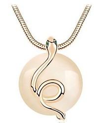 мода элегантный змея опал ожерелье sszp женщин
