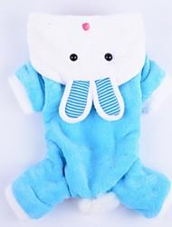 Camisola com Capuz para Cães Azul / Rosa Inverno XS / S / M / L / XL Algodão / Terylene