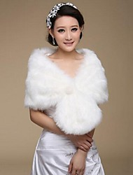 Wedding / Party/Evening Faux Fur Shawls Sleeveless Fur Wraps