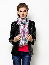 faux cuir mode long travail de douille partie / soirée veste pu (foulards pas inc