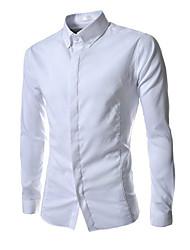 x-man Männer Langarmshirt Stehkragen Hemd