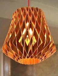 luz pingente de madeira moderna