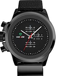 v6 ORKINA estilo negro de cuero de cuarzo analógico banda de moda reloj de pulsera redonda de la venta caliente