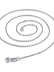 Yiyuer Women's Vintage 925 Silver Necklace Chain