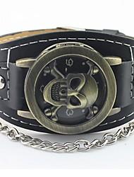 b&crânio bronze relógio de marcação do estilo do punk h masculina