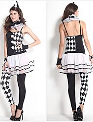 le costume d'Halloween de clown de partie robe des femmes