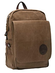 Unisex Canvas Backpack - Green / Brown / Black
