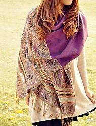 ethnique laine frangée mélange foulard des femmes