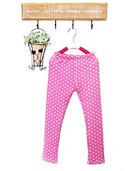 Leggings Fille de Coton Automne / Printemps Vert / Rose