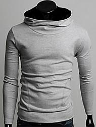 couleur unie cintrée pull-over des hommes manlodi