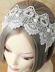 lureme®fashion nuova fascia dei capelli del merletto di stile di perle