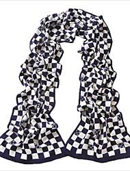 's de rejilla elegante tejer bufandas de color bache hombres
