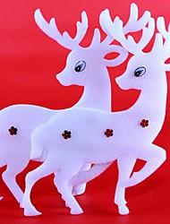 Natal janela Widget árvore pós natal voar decorações de natal largura do anel veados (cor aleatória)