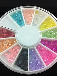Demi-cercle de 3 mm perle colorée nail art décorations