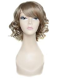 10 polegadas lado curto encaracolado bate 100% 180 graus peruca de fibra sintética de alta temperatura