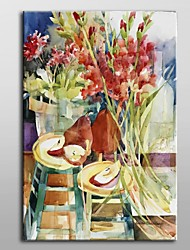 Hand Painted Oil Painting Floral Sweeping Blooms by Annelein Beukenkamp with Stretched Frame