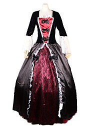 Cosplay Costumes / Party Costume Vampire Festival/Holiday Halloween Costumes Red/Black Patchwork Dress / More Accessories Halloween Female
