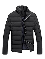 Men' Fashional Insulation Thick  Cotton Padded  Jacket without Hat