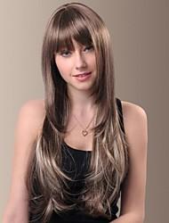 высокое качество темперамент синтетического Kanekalon японца длинные прямые волосы парик с полной челкой