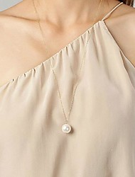 Women's European Imitation Pearl Alloy Skinny Pendant Necklace (1 Pc)