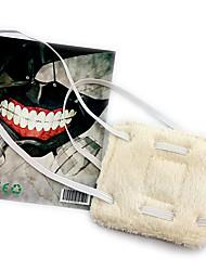 Máscara Inspirado por Tokyo Ghoul Fantasias Anime Acessórios de Cosplay Máscara Branco Malha polar Masculino