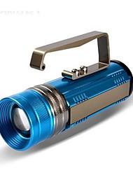 ao ar livre multi-função digital lcd fonte de luz azul amarelo branco 10w lanterna zoom portátil