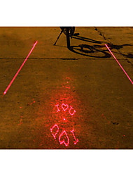 UNGROL I LOVE YOU Pattern 5 LED 4 Flash Mode White+Red Bike Projection Laser Taillight
