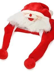 peluche cartone animato morbido cappuccio santa claus cappello caldo per Natale