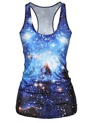 Galaxy Printed Tank Top Dress Night Club Sexy Uniform