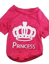Katzen / Hunde T-shirt Rose Hundekleidung Frühling/Herbst Tiaras & Kronen