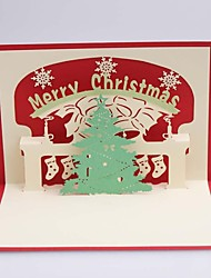 ChristmaTree Dimensional Christmas Cards