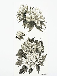 Waterproof Peony Temporary Tattoo Sticker Tattoos Sample Mold for Body Art(18.5cm*8.5cm)