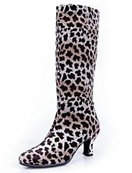 Zapatos de baile (Negro/Leopardo) - Moderno - No Personalizable - Tacón grueso