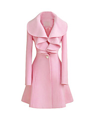 LIRONG New Ruffle Tweed Coat