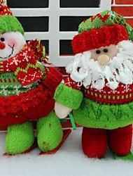 Ski Santa dimensionale Anhänger (2er-Set)