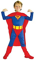 traje de Halloween do garoto legal superman
