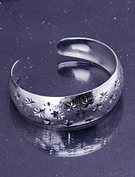 Women's Fashion High Quality Jewelry Silver Plating Cuffs Bangles