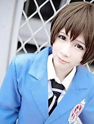 Ouran High School Host Club Haruhi Fujioka Brown Cosplay Wig
