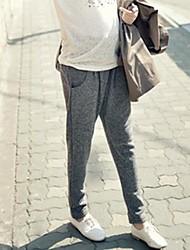 pantalones de maternidad de las mujeres del estilo coreano abdominales haren