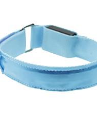couleur de LED de bracelet de bras en treillis bleu brassard (2xcr2032)