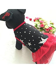 Dog Dress Red / Black Summer Stars Wedding / Cosplay