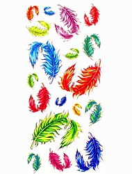 1pc Flying Feather Waterproof Tattoo Sample Mold Temporary Tattoos Sticker for Body Art(18.5cm*8.5cm)