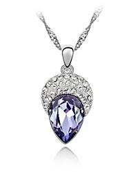 beleza colar curto macia revestida com 18k platina verdade tanzanita cristalizado strass cristal austríaco