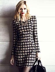 gr&w de las mujeres más tamaño verificación partterns lana vestido