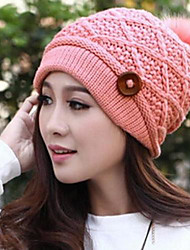 Women's Fashion Buckle Wool Cap