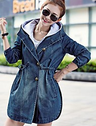 Damen Jacke - Leger Baumwolle / Denim
