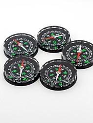Outdoors Portable Plastic Black Fluid-filled Compass 5pcs