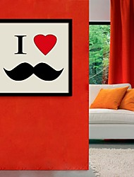 Framed Canvas Art, I Love Little Beard  Framed Canvas Print