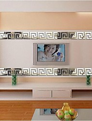 3d autoadesivo della parete diy acrilico specchio adesivi murali piazza 6 pc / insieme