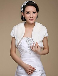 Short Sleeve Faux Fur Wedding Bridal Wraps